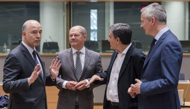 Οι υπουργοί Οικονομικών της ευρωζώνης στο eurogroup