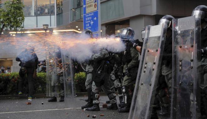 Απο τις μεγάλες διαδηλώσεις στο Χονγκ Κονγκ.