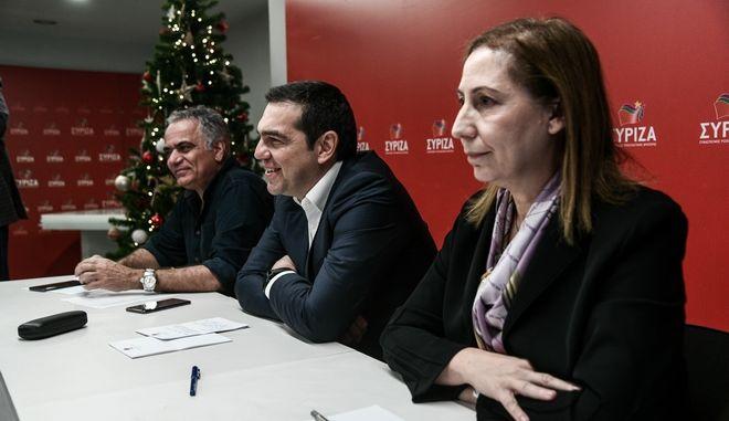 Μαριλίζα Ξενογιαννακοπούλου, Αλέξης Τσίπρας, Πάνος Σκουρλέτης