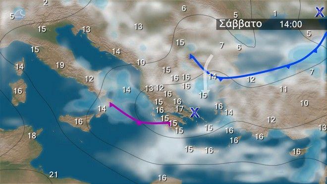 Μεταβολή του καιρού από το απόγευμα του Σαββάτου - Πτώση θερμοκρασίας