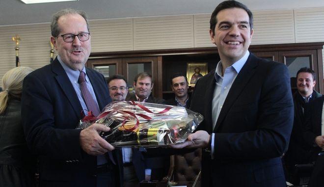 Ο δήμαρχος Καλαμάτας σε φωτογραφία αρχείου με τον Πρωθυπουργό