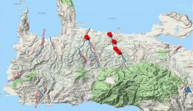 Κακοκαιρία: Αλλαγές στο ανάγλυφο της Κρήτης προκάλεσαν οι βροχές