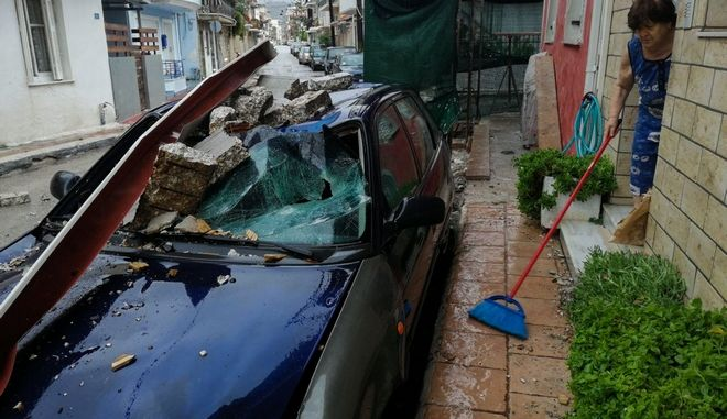 Καταστροφές στην Ζάκυνθο από το πέρασμα της κακοκαιρίας