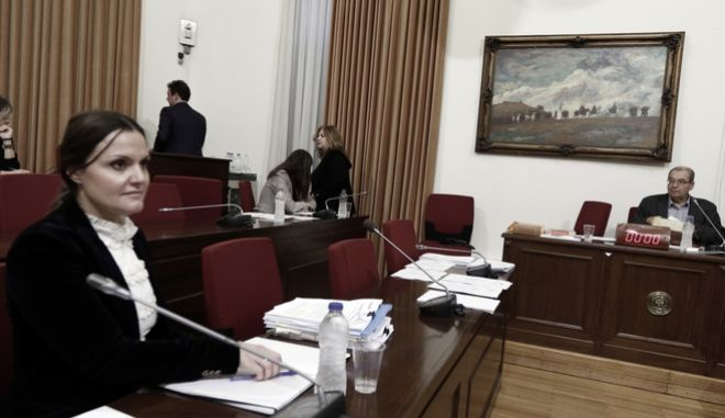 Εξέταση της μάρτυρας Ανδρονίκης Θεοφυλάτου(α) στην Εξεταστική Επιτροπή για την διερεύνηση σκανδάλων στον χώρο της υγείας κατα τα έτη 1997 - 2014, την Τρίτη 14 Νοεμβρίου 2017. (EUROKINISSI/ΓΙΩΡΓΟΣ ΚΟΝΤΑΡΙΝΗΣ)