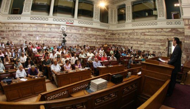 Συνεδρίαση της Κοινοβουλευτικής ομάδας του ΣΥΡΙΖΑ, Δευτέρα 23 Ιουλίου 2012.  (EUROKINISSI/ΤΑΤΙΑΝΑ ΜΠΟΛΑΡΗ)