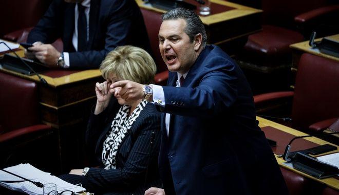 Ο Πάνος Καμμένος στη Βουλή