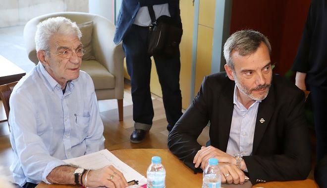 Φωτό αρχείου: Ο Γιάννης Μπουτάρης και ο Κων. Ζέρβας