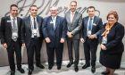 Από αριστερά στα δεξιά διακρίνονται οι: SimoneSantilli, Head of FIG Sales Italy, CEE, Greece & Cyprus, Wholesale Payments / J.P. Morgan, Κωνσταντίνος Βασιλείου, Αναπληρωτής Διευθύνων Σύμβουλος /Eurobank, John Hunter, Global Head of Clearing / J.P. Morgan, Μιχάλης Τσαρμπόπουλος, Αναπληρωτής Γενικός Διευθυντής /Eurobank, Takis Georgakopoulos, Head of Wholesale Payments / J.P. Morgan, Τίκη Δασκαλάκη- Head of Global Financial Institutions / Eurobank