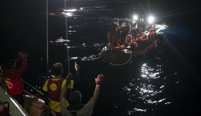 Επιχείρηση διάσωσης μεταναστών στη Μεσόγειο - Φωτογραφία αρχείου