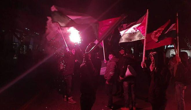 Συγκέντρωση διαμαρτυρίας Παλαιστινίων στη Θεσσαλονίκη