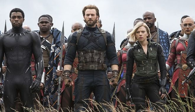 Στιγμιότυπο από την ταινία The Avengers: Infinity Wars