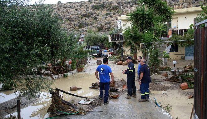 Καταστροφές από την κακοκαιρία στην Κρήτη