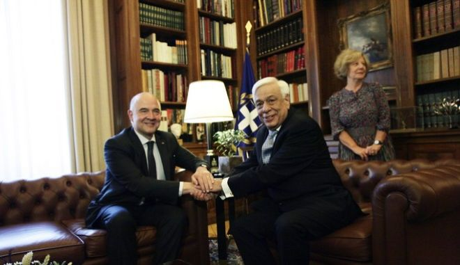 Μοσκοβισί σε Παυλόπουλο: 'Θέλουμε η Ελλάδα να επιστρέψει στην κανονικότητα. Μπορείτε να υπολογίζετε σε εμάς'