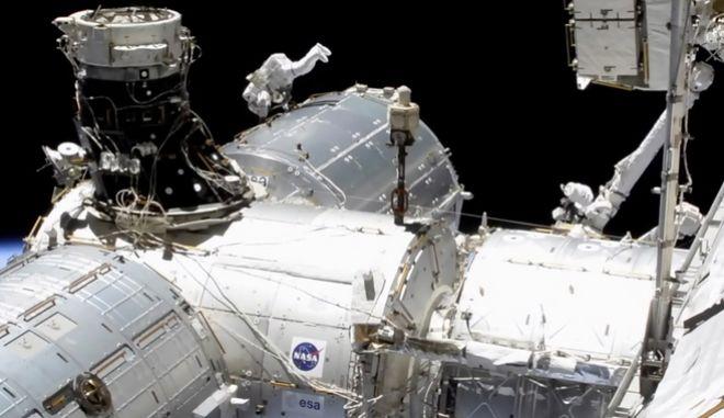 Τμήμα από το Διεθνή Διαστημικό Σταθμό.