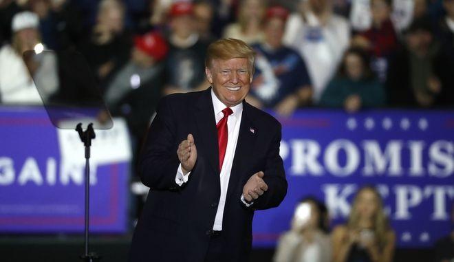 Ο Πρόεδρος Donald Trump σε προεκλογική εκστρατεία