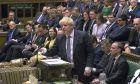 Ο Βρετανός πρωθυπουργός Μπόρις Τζόνσον σε συνεδρίαση της Βουλής των Κοινοτήτων