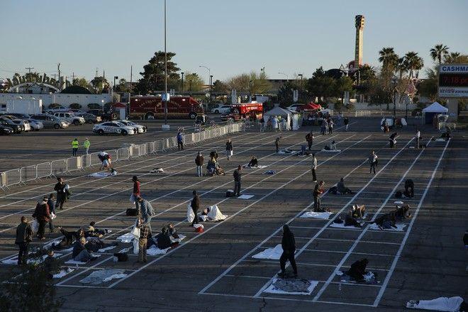 Εικόνες ντροπής στο Λας Βέγκας- Μετέτρεψαν πάρκινγκ σε