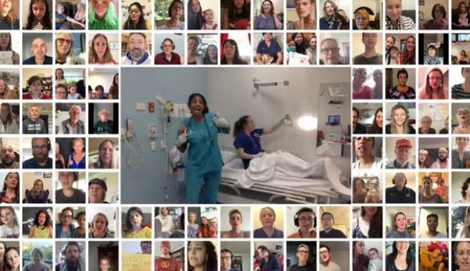 Heroes: 6.000 άνθρωποι, μια φωνή, ένα τραγούδι για τους γιατρούς και νοσηλευτές