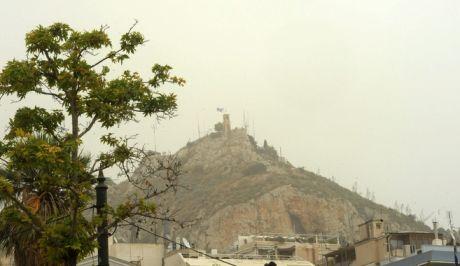 Σκόνη στον ουρανό της Αθήνας (φωτογραφία αρχείου)