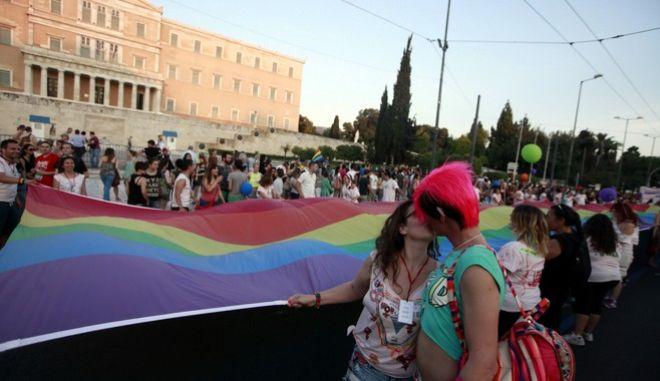 ATHENS PRIDE 2014 ΣΤΗ ΠΛΑΤΕΙΑ ΚΛΑΥΘΜΩΝΟΣ (EUROKINISSI/ΓΕΩΡΓΙΑ ΠΑΝΑΓΟΠΟΥΛΟΥ)