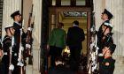Στιγμιότυπο από τη συνάντηση του Πρωθυπουργού Αλέξη Τσίπρα με την Καγκελάριο της Γερμανίας Άνγκελα Μέρκελ