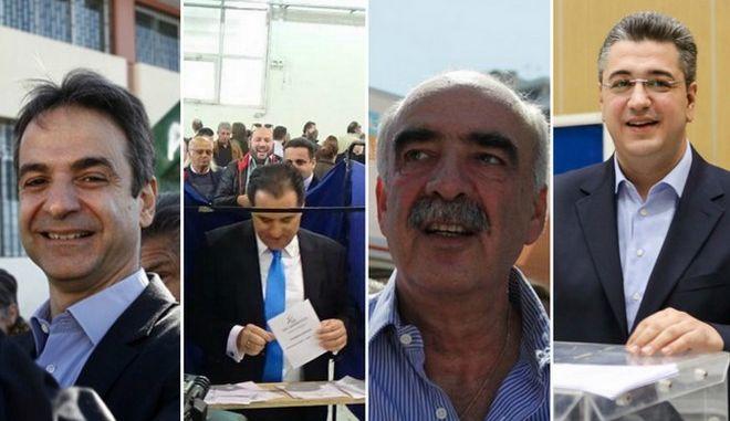 Νέα Δημοκρατία: Ψήφισαν οι 4 υποψήφιοι πρόεδροι. Τι δήλωσαν