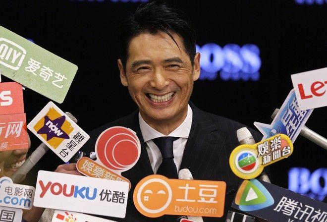 Ο Τσόου Γιουν-φατ σε εκδήλωση στο Χονγκ Κονγκ