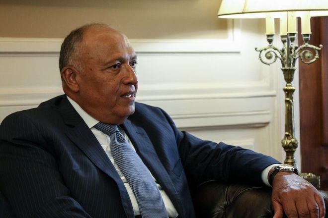 Ο Αιγύπτιος υπουργός Εξωτερικών Σάμεχ Σούκρι