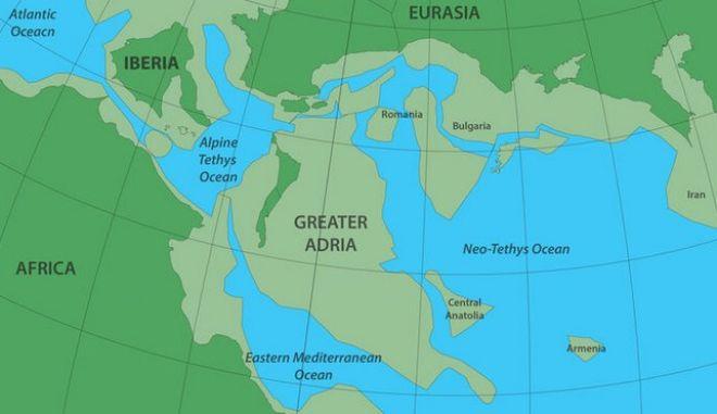 Ο χάρτης που απεικονίζει την χαμένη ήπειρο.