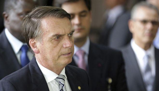 Ο εκλεγμένος πρόεδρος της Βραζιλίας Ζαΐχ Μπολσονάρο στην Μπραζίλια