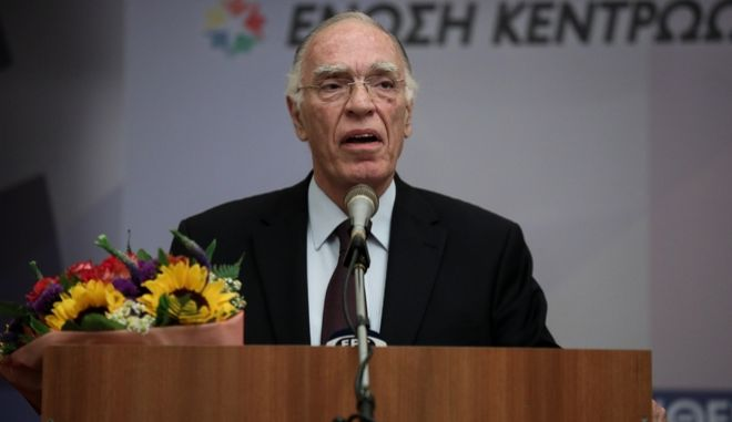 Ο πρόεδρος της Ένωσης Κεντρώων, Βασίλης Λεβέντης.