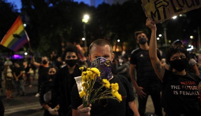 Διαδηλωτές στο Μεξικό