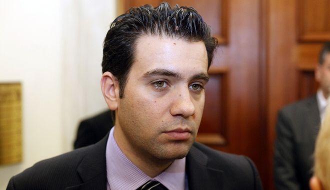 Ο εκπρόσωπος τύπου της ΔΗΜΑΡ Ανδρέας Παπαδόπουλος. Οι Πράξεις Νομοθετικού Περιεχομένου, η συνεδρίαση του Eurogroup και πιθανότατα και ο ανασχηματισμός συζητήθηκαν στις χωριστές συναντήσεις που είχε ο πρωθυπουργός με τους αρχηγούς ΠΑΣΟΚ και ΔΗΜΑΡ. (EUROKINISSI/ΓΙΩΡΓΟΣ ΚΟΝΤΑΡΙΝΗΣ)