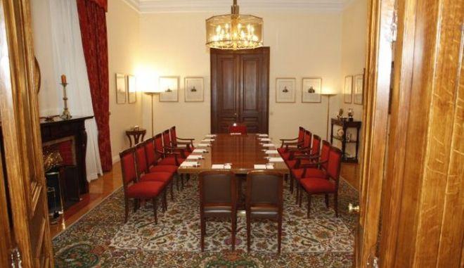 ΠΡΟΕΔΡΙΚΟ ΜΕΓΑΡΟΗ -Η αίθουσα που θα γίνει η σύσκεψη των πολιτικών αρχηγών για την διαφθορά υπό τον πρόεδρο της Δημοκρατίας, την οποία ζήτησε ο πρωθυπουργός Γ. Παπανδρέου.(EUROKINISSI-ΓΙΩΡΓΟΣ ΚΟΝΤΑΡΙΝΗΣ)
