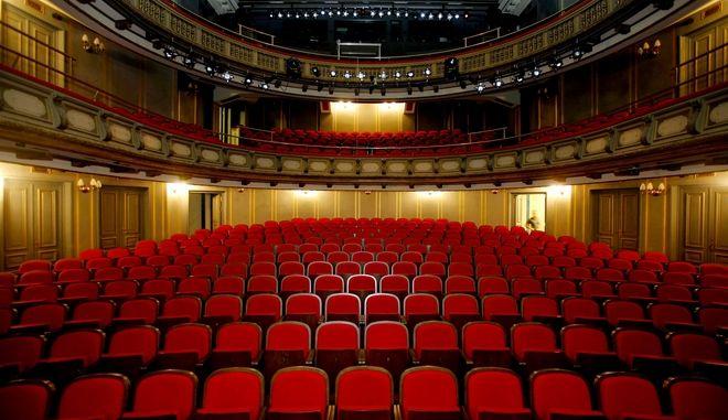 Η ανακαινισμένη αίθουσα του Εθνικού Θεάτρου
