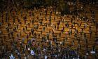 Οι Ισραηλινοί διαδηλώνουν κατά Νετανιάχου τηρώντας τα μέτρα ασφαλείας