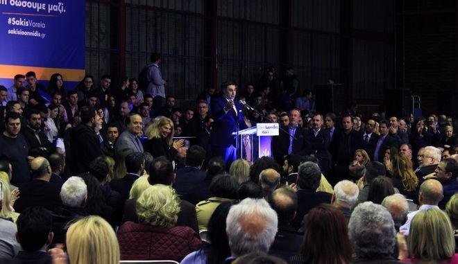 Ομιλία Σ.Ιωαννίδη, παρουσία 2.000 ατόμων, με ισχυρή καραμανλική υποστήριξη