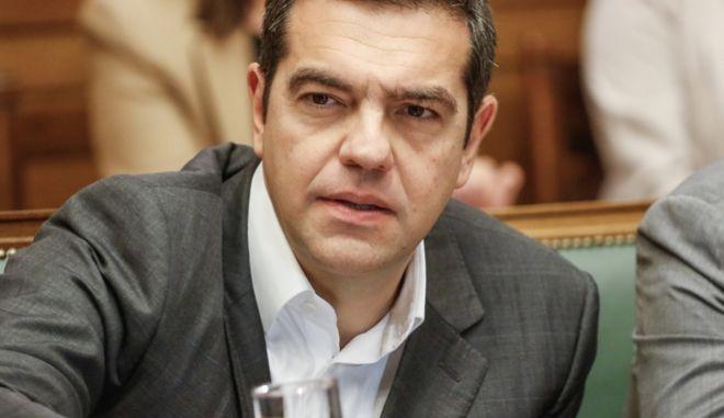Ο πρωθυπουργός Αλέξης Τσίπρας στη συνεδρίαση του Υπουργικού Συμβουλίου, Τρίτη 16 Οκτωβρίου 2018