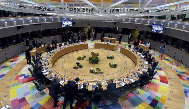 Στιγμιότυπο από Σύνοδο Κορυφής των Ευρωπαίων ηγετών στις Βρυξέλλες