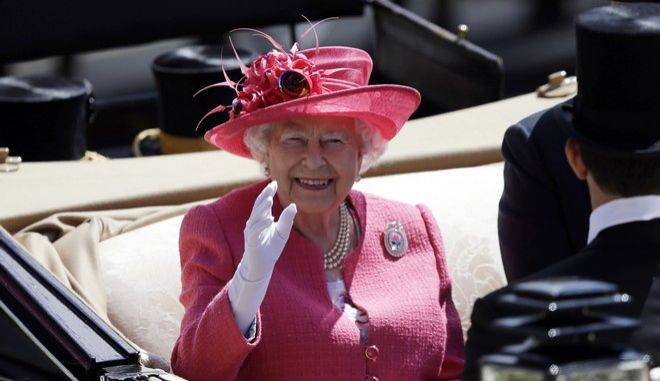 H βασίλισσα Ελισάβετ στο Άσκοτ