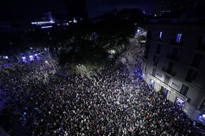 Διαδηλωτές στους δρόμους της Ισπανίας