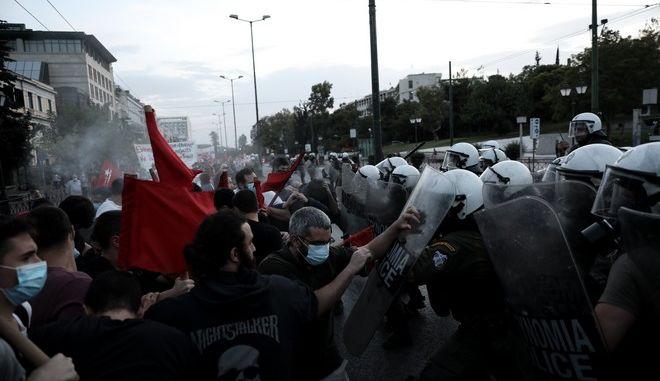 Ενταση στην κινητοποίηση αριστερών οργανώσεων ενάντια στην επίσκεψη του Υπ. Εξωτερικών των ΗΠΑ στην Ελλάδα την Δευτέρα 28 Σεπτεμβρίου