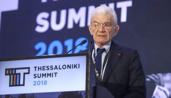 Ο δήμαρχος Θεσσαλονίκης, Γιάννης Μπουτάρης, στο βήμα του 3ου Thessaloniki Summit