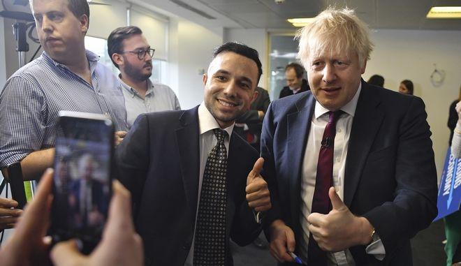 Ο Μπόρις Τζόνσον σε προεκλογική εκδήλωση στο Λονδίνο