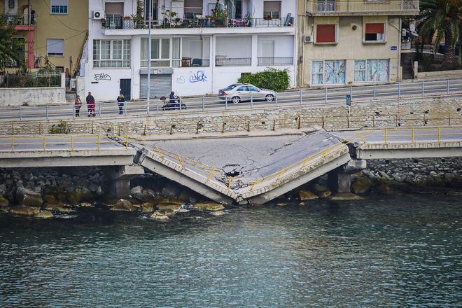Η γέφυρα στην Καβάλα που κατέρρευσε το Νοέμβριο του 2018