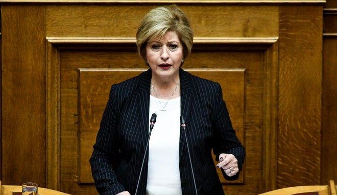 Η πρώην υφυπουργός Άμυνας και βουλευτής των ΑΝΕΛ Μαρία Κόλλια Τσαρουχά