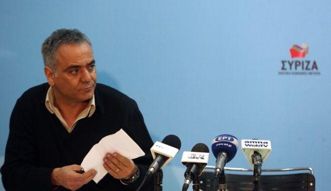 'Εκτακτη συνέντευξη τύπου του Προέδρου του ΣΥΡΙΖΑ ΕΚΜ Αλέξη Τσίπρα για την κρίση στην Κύπρο,Πέμπτη 21 Μαρτίου 2013  (EUROKINISSI/ΤΑΤΙΑΝΑ ΜΠΟΛΑΡΗ)