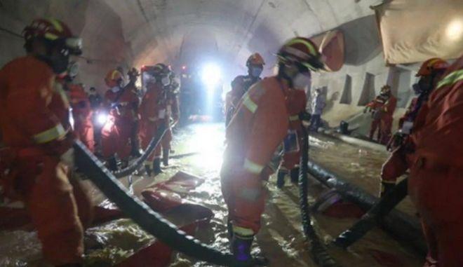 Κίνα: Ανασύρθηκαν 3 νεκροί από πλημμυρισμένη σήραγγα