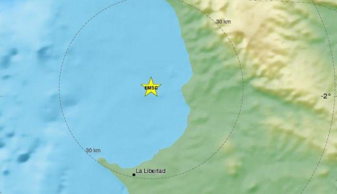 Ισχυρός σεισμός 6,3 Ρίχτερ στον Ισημερινό