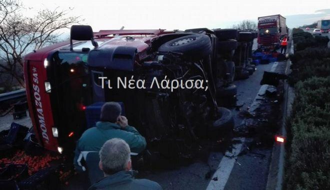 Νταλίκα ντεραπάρισε στο Κιλελέρ - Κλειστό το ρεύμα της εθνικής προς Θεσσαλονίκη